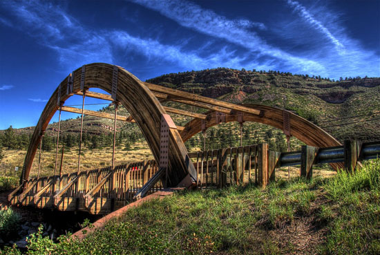 most-drewno klejone