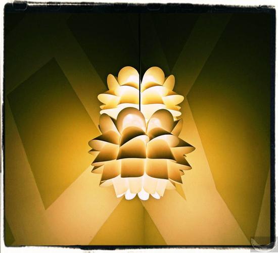 kwiecista lampa