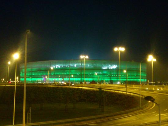 świecący stadion